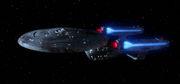 USS Enterprise-C, dorsal profile