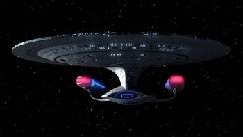"The <a href=""/wiki/USS_Enterprise_(NCC-1701-D)"" title=""USS Enterprise (NCC-1701-D)"">USS Enterprise-D</a>"