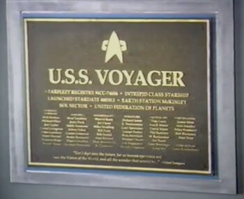 Richard James on the <i>Voyager</i> dedication plaque