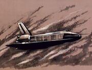 Zeichnung vom Space Shuttle Enterprise