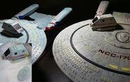 Aoshima USS Enterprise-D comparison