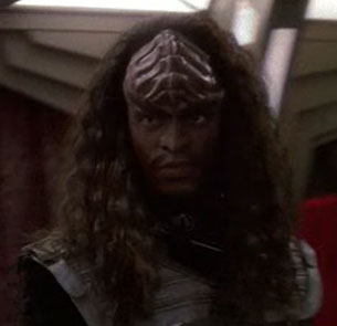 ...as a Klingon warrior