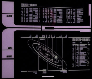 Display of the Mira Antlia system