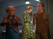 Quark, Alsia, and Odo