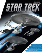 Star Trek Official Starships Collection Enterprise NX+TOS+A+B 4-pack