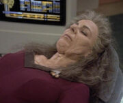 Deanna Troi rapidly aged