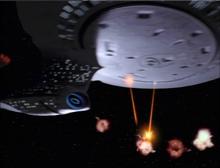 Die Enterprise zerstört Die Verteidigung