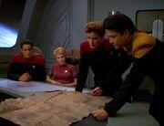 Die Offiziere der Voyager planen Starling zu stoppen