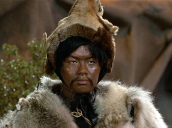 ...as Genghis Khan