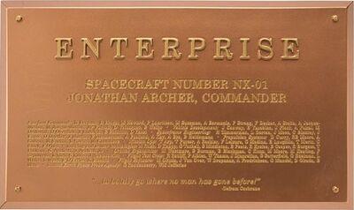Raumschiffsammlung Widmungsplakette Enterprise (NX-01)