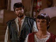 Riker und Troi als Mintakaner