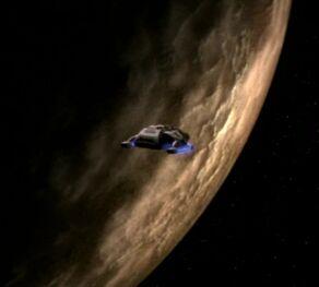 Runabout in orbit of Sappora VII-small barren moon.jpg