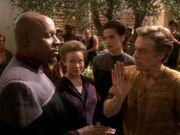 Yedrin versucht Sisko zu überzeugen
