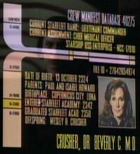 Beverly Crusher personnel file