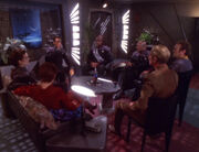 Deep Space 9 senior staff dinner