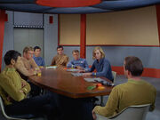 Enterprise crew discuss Mitchell
