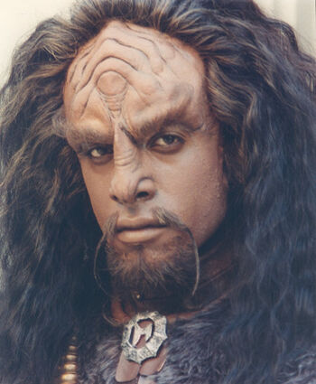 Grevioux as a Klingon on an Emmy event