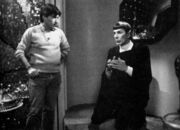 Nicholas Meyer and Leonard Nimoy in Spock's quarters