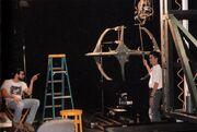 Glenn Neufield and David Takemura setting up a VFX shot