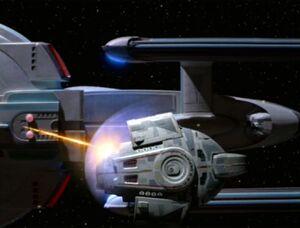 USS Lakota fires on the Defiant-3
