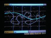 Kurs der Voyager durch den Raum der B'omar