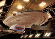 USS Voyager im Trockendock der Utopia-Planitia-Flottenwerft 2371