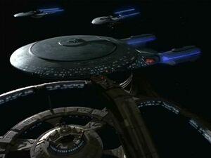 Uss venture docked, ds9