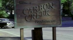 Carbon Creek naambord