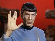 Spock performing Vulcan salute