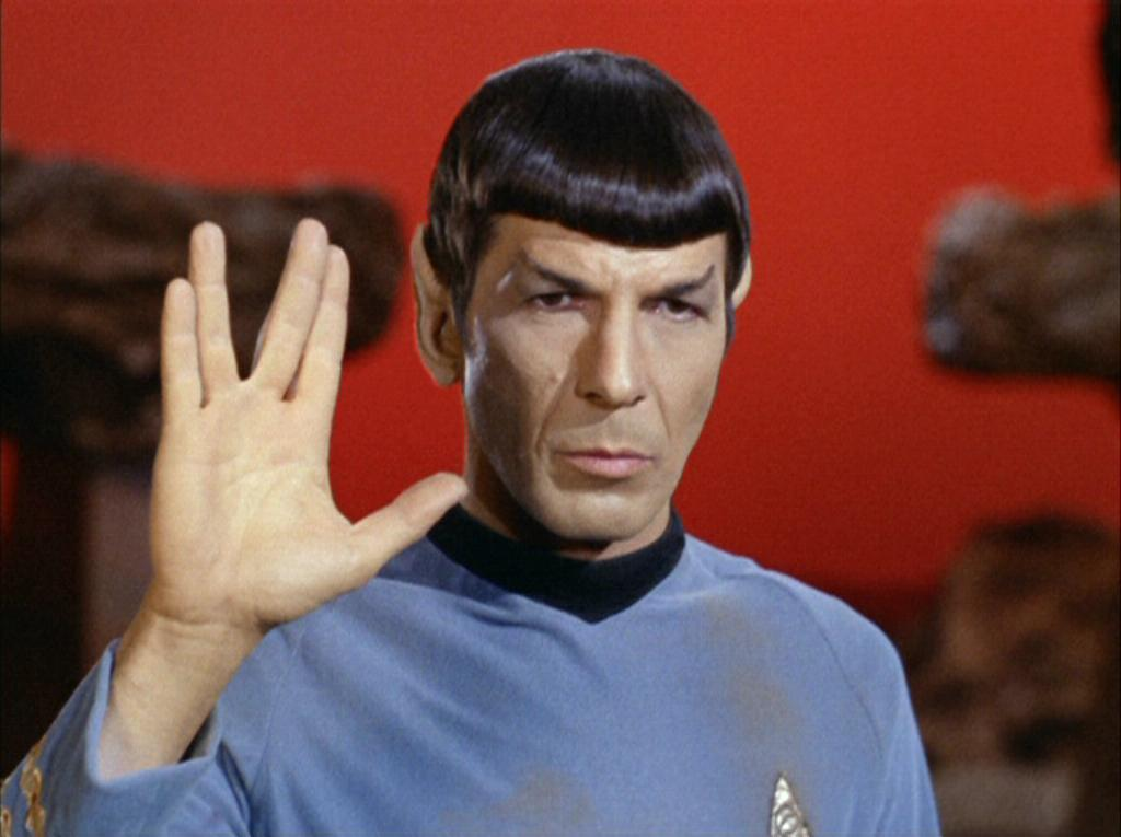Vulcan salute memory alpha fandom powered by wikia spock performing vulcan salute m4hsunfo