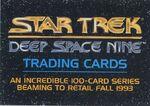 Star Trek Deep Space Nine - Series Premiere Promo Card