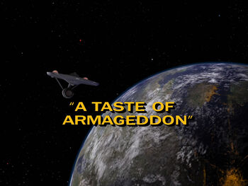 A Taste of Armageddon title card