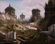 Teplan city ruins