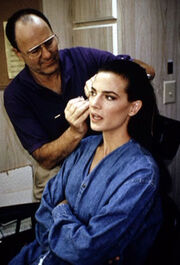 Terry Farrell and Michael Westmore