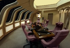 Enterprise-D lounge