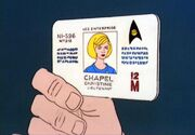 Identification card, Christine Chapel