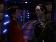 Kira berichtet, dass O'Brien Vater des Kindes ist