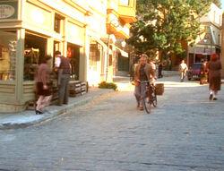 Straat in Sainte Claire