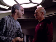 Traveler tells Picard about Wesley