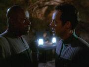 Bashir spricht mit Sisko