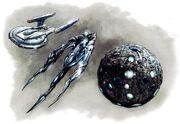 Enterprise and Xindi ships drawing
