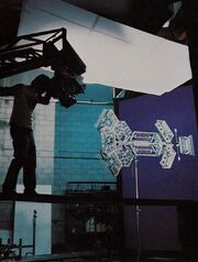 Epsilon IX station studio model filmed on stage at Apogee Inc by Michael Lawler