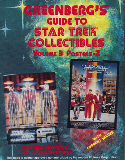 Greenbergs Guide to Star Trek Collectibles Volume 3 Posters-Z