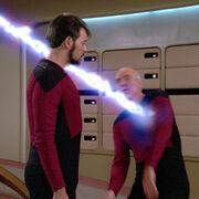 Picard attacked by energy vortex