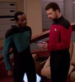 Riker giving orders, 2370