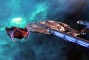 Vahklas docked with Enterprise