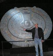 Brian Demonbreun with saucer