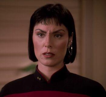 "Lieutenant Ro Laren in <a href=""/wiki/2370"" title=""2370"">2370</a>"