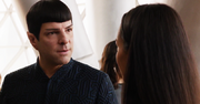 Spock at Kirk's party