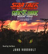 The Genesis Wave Book Two audiobook cover, CD edition